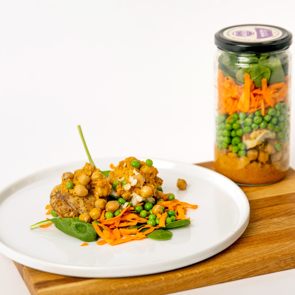 No-Butter Chickpea Meal in a Jar Vegan