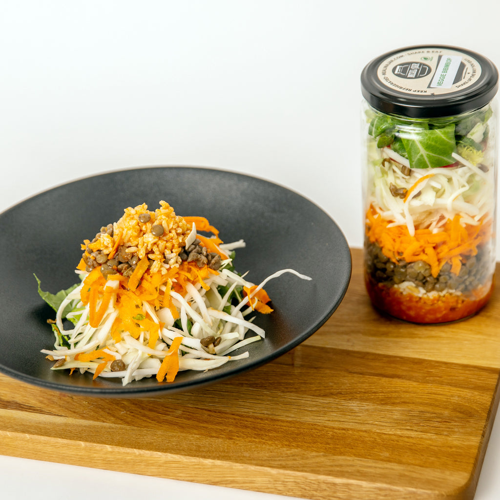 Veggie Bibimbap Vegan Meal in a Jar