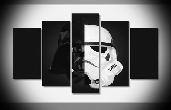 Star Wars™ Darth Vadar/Storm Trooper Helmet Framed Wall Art - Geek Bling