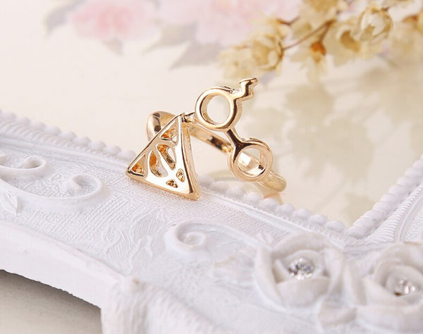 Harry Potter Deathly Hallows Ring - Geek Bling