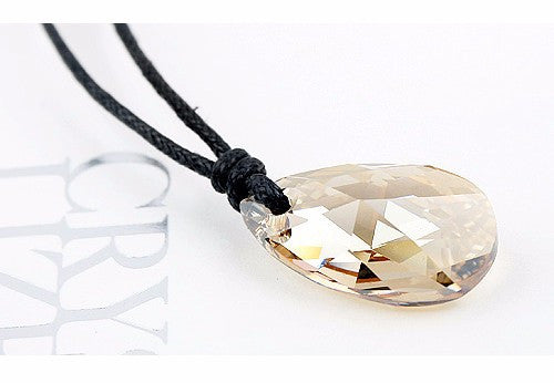 Yui's Heart Blue Crystal Pendant Necklace - Geek Bling