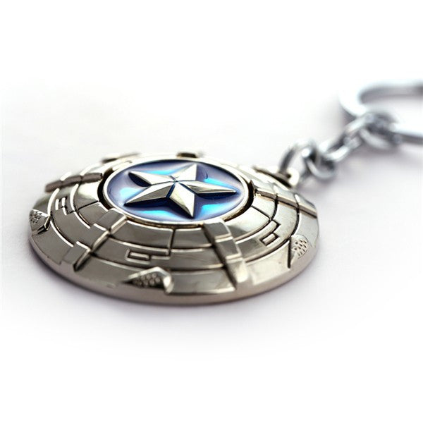 Marvel™ Captain America Rotatable Keychain - Geek Bling