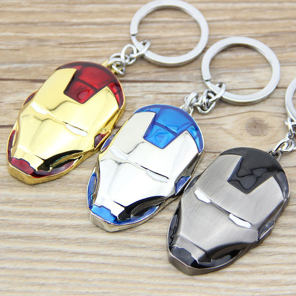 Marvel™ Iron Man Mask Keychain - Geek Bling