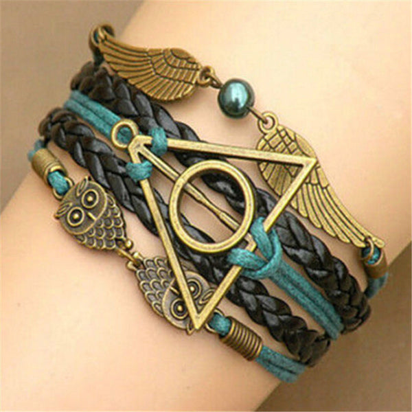 Harry Potter Deathly Hallows Braided Bracelet - Geek Bling