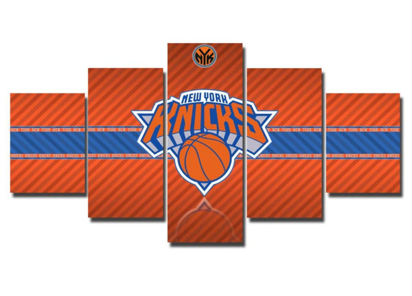 New York Knicks, 5 Panel Canvas Art