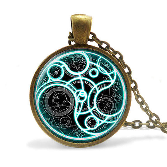 Dr Who Steam Punk Pendant Necklace - Geek Bling