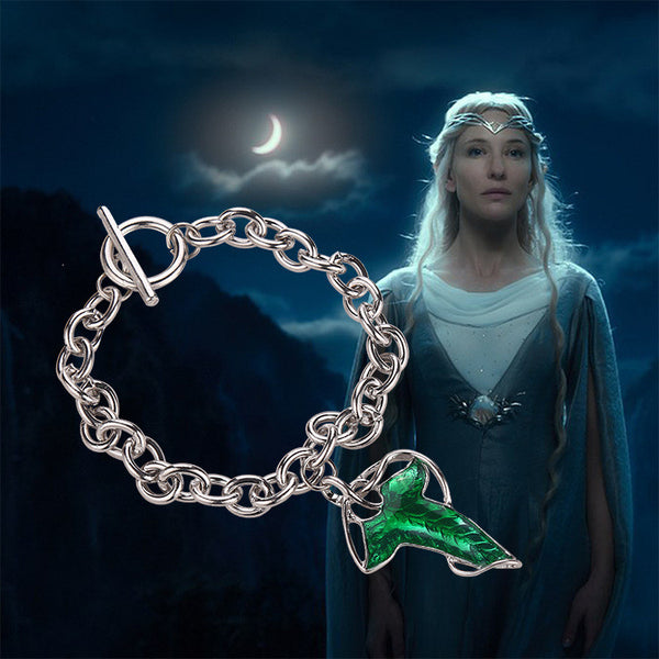 Lord of The Rings Legolas Green Leaf Necklace - Geek Bling