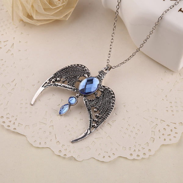 Harry Potter Raven Claw Eagle Crown Pendant Necklace - Geek Bling