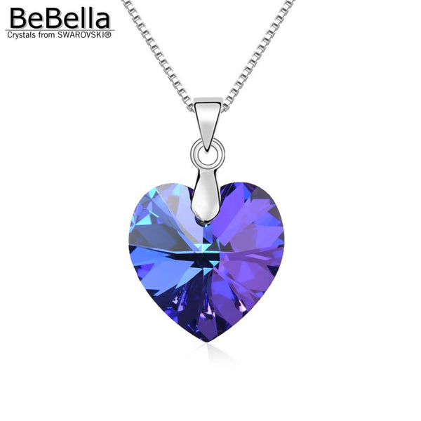 Swarovski Elements Crystal Heart Pendant Necklace - Geek Bling