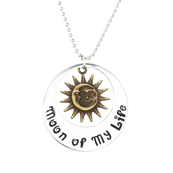 Game of Thrones Double Sided Moon of My Life/My Sun and Stars Necklace - Geek Bling