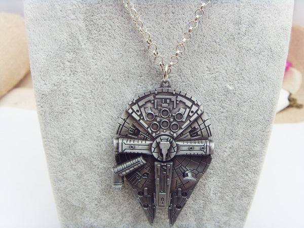 Star Wars™ Mellenium Falcon Pendant Necklace - Geek Bling