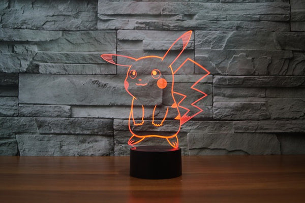 Pokemon™ 3D Visual LED Lamp - Geek Bling