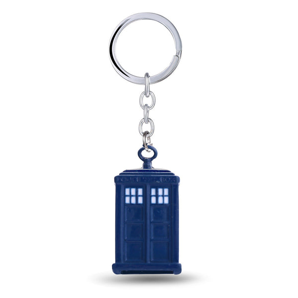 Dr Who TV Show Tardis Keychain - Geek Bling