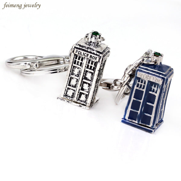 Dr Who Tardis Keychain - Geek Bling