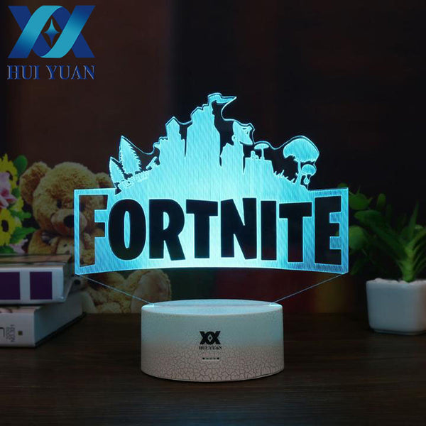 Fortnite 3D Lamp Changeable Mood Lamp - Geek Bling