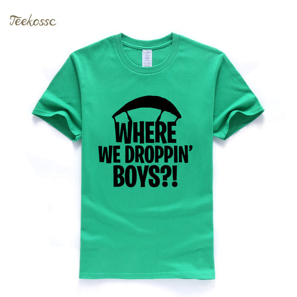 Fortnite T-Shirt Where We Droppin' Boys - Geek Bling