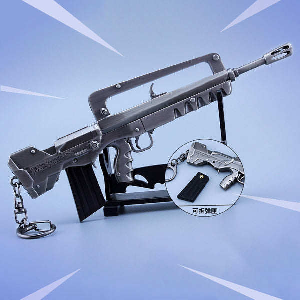 Fornite Keychain Bullpup Burst Assault Rifle (FAMAS) - Geek Bling