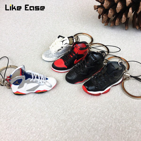3D Air Jordan Sneaker Keychains with Mobile Phone Strap Lanyard for iPhone - Geek Bling
