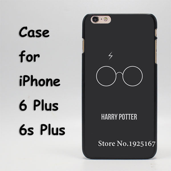 Harry Potter Glass Pattern hard black Case Cover for iPhone 4 4s 5 5s 5c 6 6s 6 Plus 6s Plus - Geek Bling