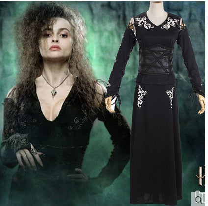 Harry Potter Cosplay Women Bellatrix LeStrange Costume - Geek Bling