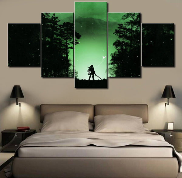 Legend Of Zelda Concept Art, 5 Piece Framed Canvas Art - Geek Bling