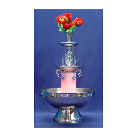 5 GALLON BEVERAGE FOUNTAIN WITH GOLD TRIM