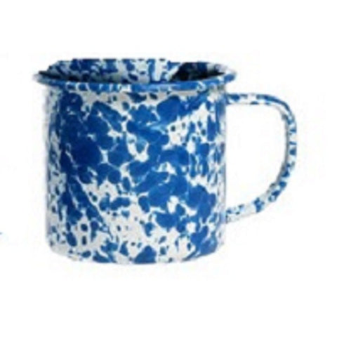 BLUE SPLATTERWARE MUG