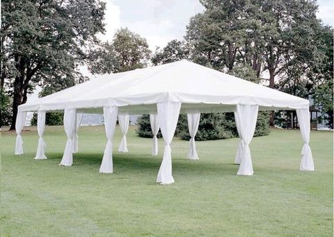 20X40 WHITE CANOPY TENT. ADDITIONAL SIZES AVAILABLE.
