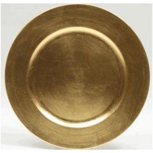 "GOLD 13"" PLASTIC CHARGER"