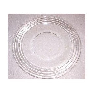 "10"" RIMMED CLEAR GLASS PLATES"