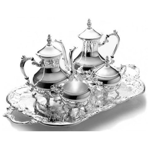 5 PIECE SILVER TEA SET