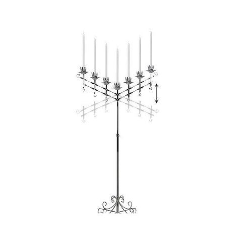 V7-BR. ADJUSTABLE CANDELABRA / CHROME