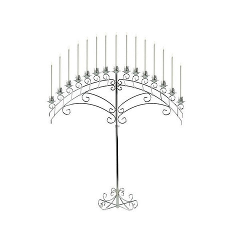 15-BRANCH ARCH CHROME CANDELABRA
