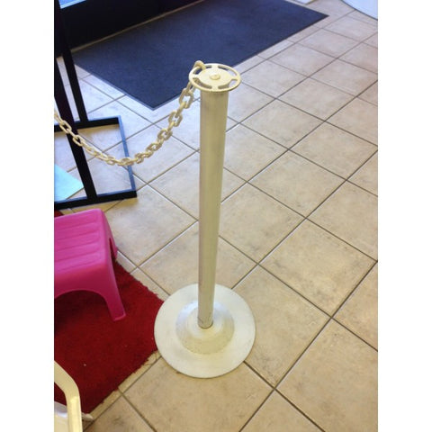 WHITE METAL STANCHION