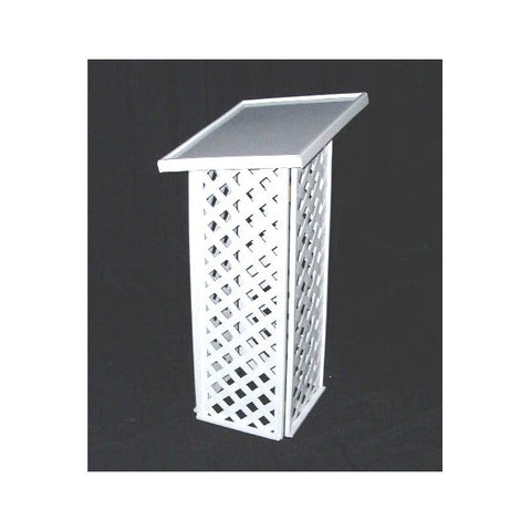 WHITE LATTICE GUESTBOOK STAND