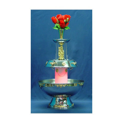 7 GALLON BEVERAGE FOUNTAIN W/ GOLD TRIM
