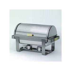 8QT RECTANGLE ROLLTOP CHROME CHAFER