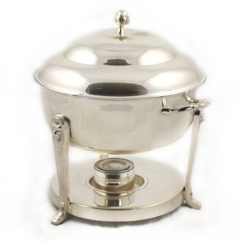 8QT ROUND SILVER CHAFER