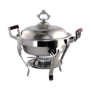 5QT ROUND STAINLESS CHAFER