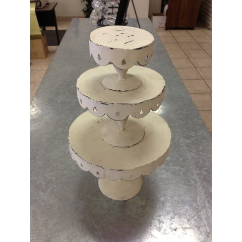 3-TIER SHABBY CHIC CAKE STAND