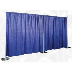 FREE STANDING PIPE & DRAPE / 8' TALL. PRICED $5.00 PER FT.