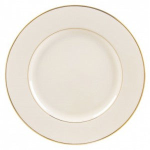 "7"" IVORY WITH GOLD RIM CHINA SALAD/DESSERT PLATE"