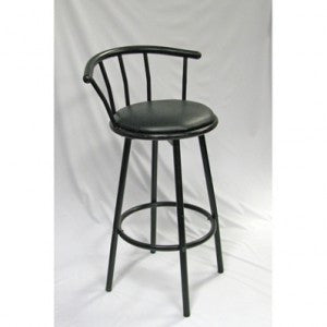 BLACK SWIVAL BAR STOOL