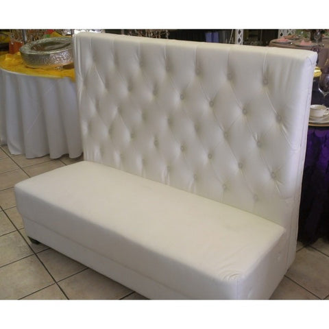 WHITE LOUNGE LOVE SEAT