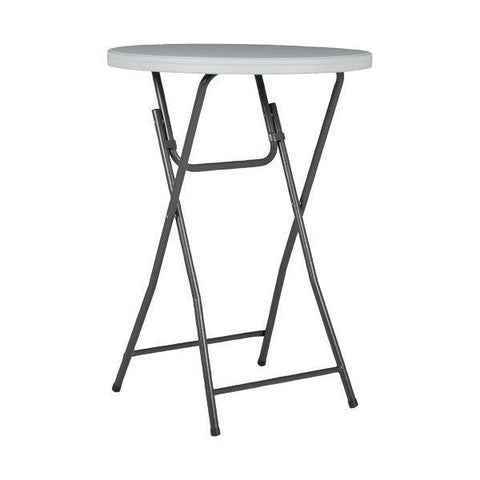 "32""ROUND 43""TALL PLASTIC COCKTAIL TABLE"