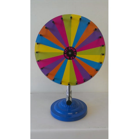 "PASTEL WHEEL OF FORTUNE (23 1/4"" TALL 16"" RND)"