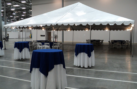 40X40 WHITE CANOPY TENT. ADDITIONAL SIZES AVAILABLE.
