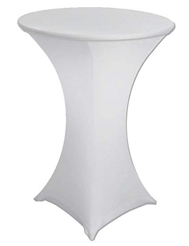 WHITE SPANDEX COCKTAIL COVERS 32