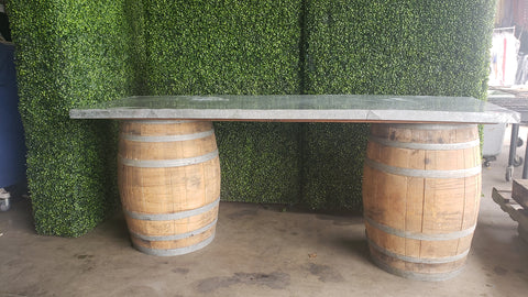 Wine Barrel Bar / 8 foot