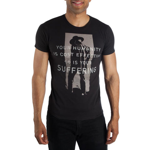 Men's Westworld Humanity Quote Shirt- The Man in Black